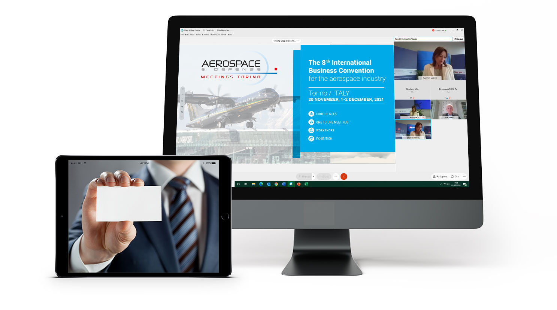 Share business card aerospace defense meetings torino